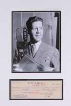 Rudy Vallee Autograph Signed Cheque Display